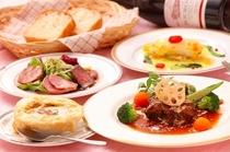 お夕食 コース料理(一例)