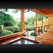 ■ 客室-西館露天風呂付