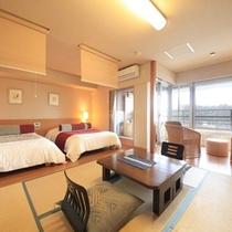 【楽水館】 露天風呂付 和室6畳+ツイン
