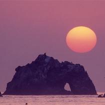 「日出の石門」からの日の出!