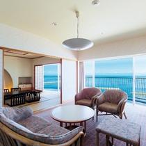 ■スタンダートフロア 和室12.5畳+リビング(リビング側)