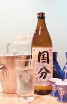 地元の本格芋焼酎(さつま国分)