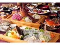 漁師の宴【地魚基本+伊勢海老+あわび+渡り蟹+旬1品】