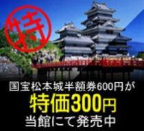 松本城割引券