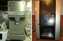 無料の製氷機と給茶機