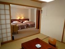 【特別和洋室】和室と洋室、二間続きの広々としたスイートルーム★