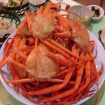 天ぷら&紅ズワイガニをお好きなだけ食べ放題♪゜・*:.。. .。.:*・♪