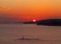 勝浦湾の夕景