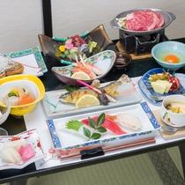 *夕食一例/ 旬の素材を活かしたお料理。