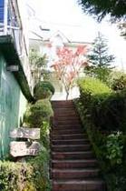 たる風呂までの階段