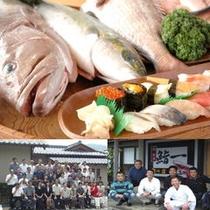 魚と鮨・クラス会とお客様600
