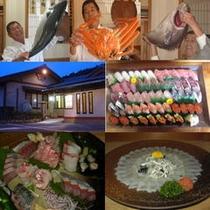 魚3コマ・玄関・鮨・てつさ・つくり500×500