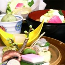 京野菜と湯葉をメインとした京会席!!生湯葉のお造りが絶品!!【2014.3月イメージ】