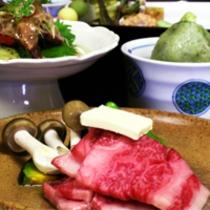 国産霜降り牛をメインとした京会席【2014.4月イメージ】
