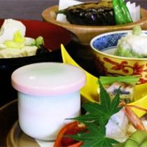 京野菜と湯葉をメインとした京会席!!生湯葉のお造りが絶品!!【2012.8月イメージ】