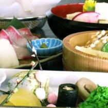 京野菜と湯葉をメインとした京会席!!生湯葉のお造りが絶品!!【2013.1月イメージ】