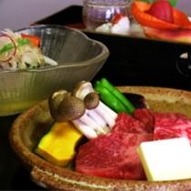 国産霜降り牛をメインとした京会席【2011.8月イメージ】