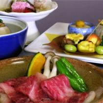 国産霜降り牛をメインとした京会席【2011.10月イメージ】