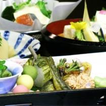京野菜と湯葉をメインとした京会席!!生湯葉のお造りが絶品!!【2014.4月イメージ】