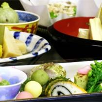 京野菜と湯葉をメインとした京会席!!生湯葉のお造りが絶品!!【2013.4月イメージ】