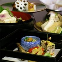 京野菜と湯葉をメインとした京会席【2011.2月イメージ】