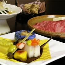 国産霜降り牛をメインとした京会席【2010.11月イメージ】