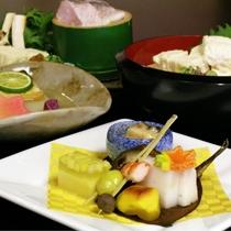京野菜と湯葉をメインとした京会席【2010.11月イメージ】