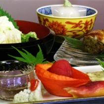 京野菜と湯葉をメインとした京会席【2011.8月イメージ】