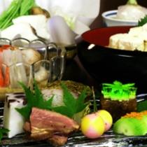 京野菜と湯葉をメインとした京会席【2011.6月イメージ】