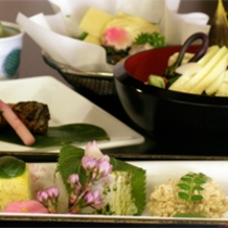 京野菜と湯葉をメインとした京会席【2011.4月イメージ】