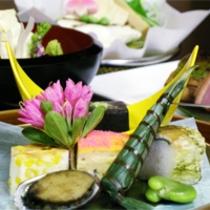 京野菜と湯葉をメインとした京会席!!生湯葉のお造りが絶品!!【2013.5月イメージ】
