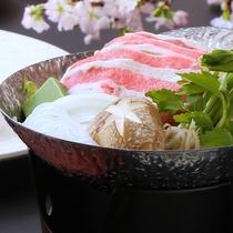 【春 うまかもん会席】春キャベツの牛すき鍋