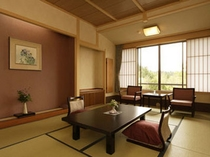 平安亭12畳客室客室の壁紙は空気を洗う壁紙を使用