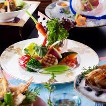 蟹と帆立の彩りサラダ