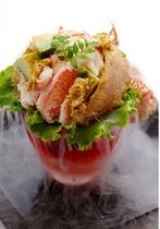 毛蟹のサラダ