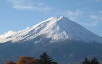 冬 早朝のの富士山
