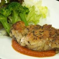 夕食 お肉のプレート