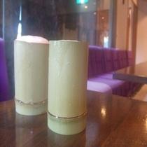 湯上がりサービス!竹グラスで飲む生ビール。16時〜18時ラウンジ雅にて(時間場所限定)