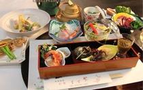能登の秋のお料理例。新米が美味しい季節です。