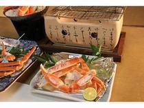 香ばしい焼き蟹は甘みも増してとても美味しい☆