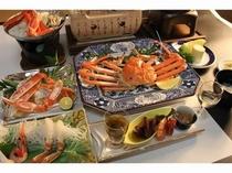 茹で蟹、蟹刺し、焼き蟹、蟹すき鍋、蟹釜飯など、石川県産加能蟹を味わって下さい。