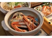 ズワイガニ温泉蒸し。蒸し上がった加能蟹は甘くて最高に美味☆