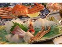 甘い身の茹で蟹、蟹刺し、お造りはとても美味しい☆