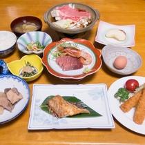 *【ご夕食一例】自家栽培の食材を使ったボリューム満点な手作り料理