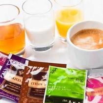飲み物も緑茶から紅茶まで幅 広くご用意♪