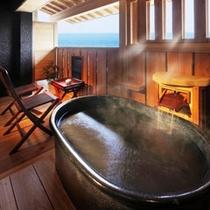 太平洋が一望できる客室露天風呂