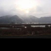 冬の円山川