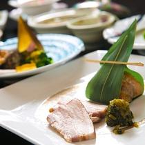【料理一例】厚木の地場産食材を使った、元湯旅館こだわりの会席料理をぜひ