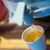 【アメニティ】温泉にはお茶をご用意しております。湯上り後の一杯をどうぞ