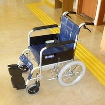 レンタル車イス完備!1階トイレ、エレベーター、大浴場とバリヤフリー対応です。